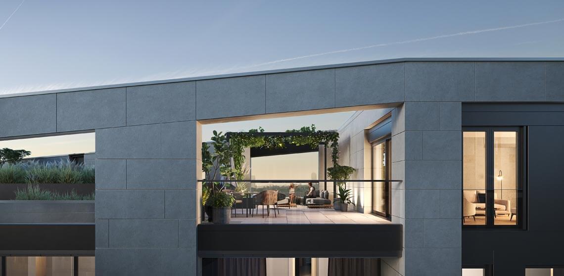 Hafenpark Quartier Frankfurt Eigentumswohnung Penthouse Terrasse