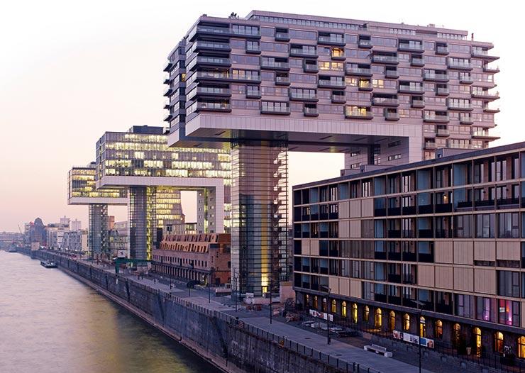 Hafenpark Quartier Frankfurt Hadi Teherani Architetcs Kranhäuser