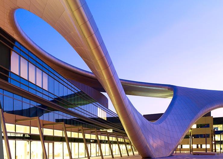 Hafenpark Quartier Frankfurt Architektur Had Teherani