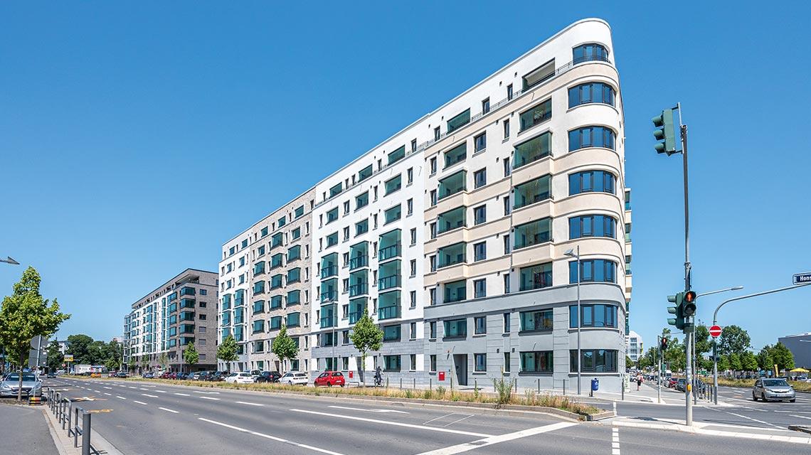 Hafenpark Quartier Frankfurt Mietwohnungen Ostend Baufeld Ost