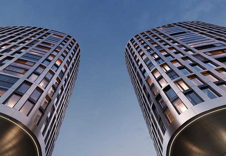 Hafenpark Quartier Frankfurt Eigentumswohnung Ostend Highside Hadi Teherani Architetcs