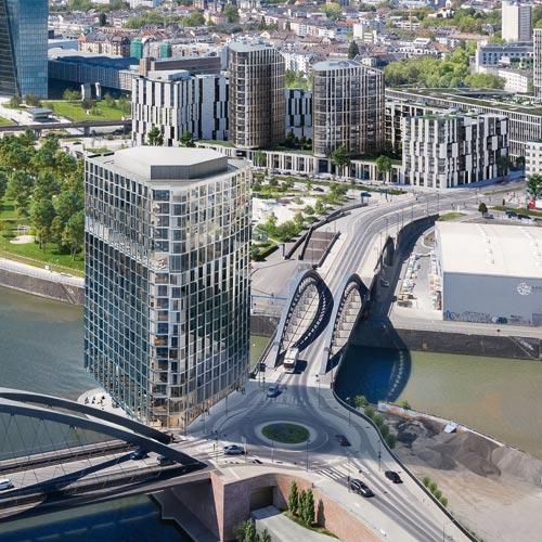 Hafenpark Quartier Frankfurt Wohnen Hotel Office