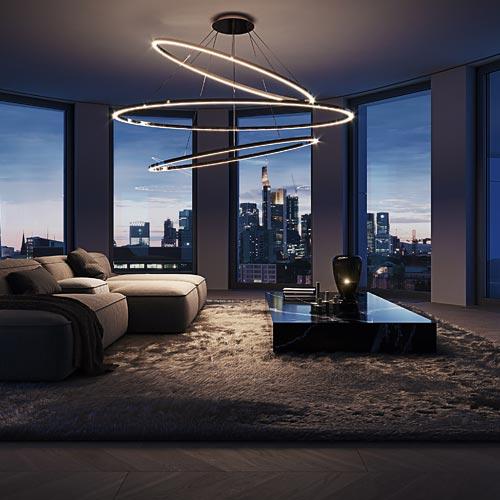 Hafenpark Quartier Frankfurt Wohnen Living Apartment Skyline